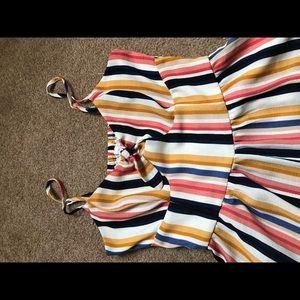 Striped one piece jumper